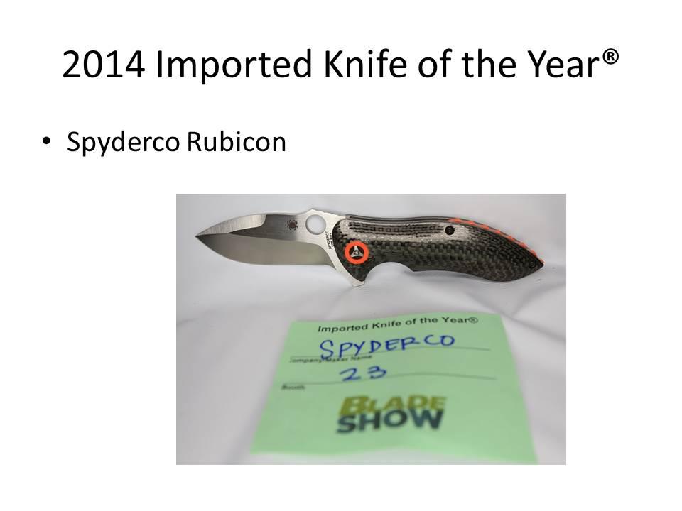 Spyderco Carey Rubicon 2014